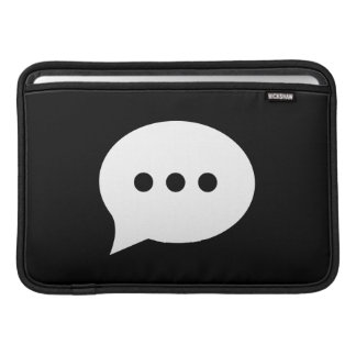 Chit-Chat Pictogram MacBook Air Sleeve