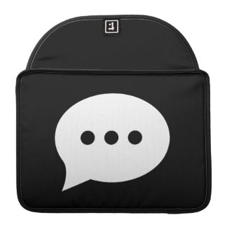 Chit-Chat Pictogram MacBook Pro Sleeve