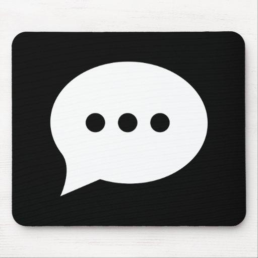 Chit-Chat Pictogram Mousepad