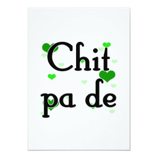 Chit pa de - Burmese - I Love You (3) Hearts Green 5x7 Paper Invitation Card