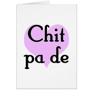 Chit pa de - Burmese - I Love You (3) Purple Heart Note Card