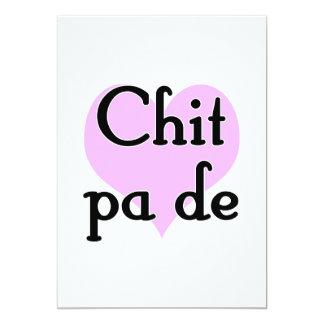 Chit pa de - Burmese - I Love You (3) Purple Heart 5x7 Paper Invitation Card