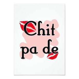 "Chit pa de - Burmese - I Love You (3) Red Kisses.p 5"" X 7"" Invitation Card"