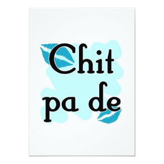 "Chit pa de - Burmese - I Love You (3) Teal Kisses. 5"" X 7"" Invitation Card"