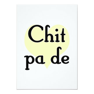 Chit pa de - Burmese - I Love You (3) Yellow Heart 5x7 Paper Invitation Card