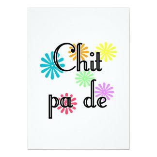"Chit pa de - Burmese - I Love You (4) Flowers.png 5"" X 7"" Invitation Card"