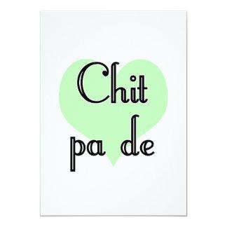 "Chit pa de - Burmese - I Love You (4) Green Hearts 5"" X 7"" Invitation Card"