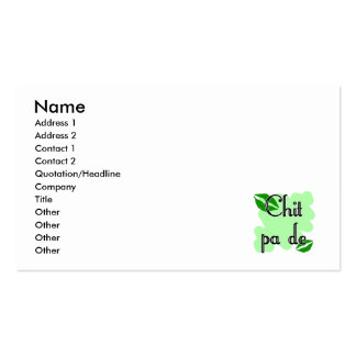 Chit pa de - Burmese - I Love You (4) Green Kisses Pack Of Standard Business Cards
