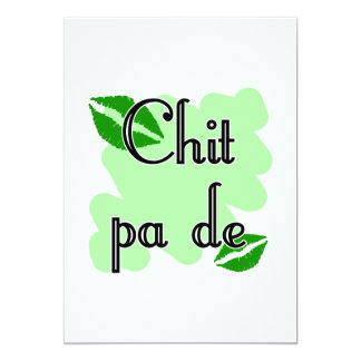 "Chit pa de - Burmese - I Love You (4) Green Kisses 5"" X 7"" Invitation Card"