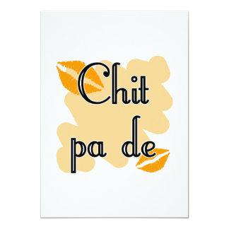 "Chit pa de - Burmese - I Love You (4) Orange Kisse 5"" X 7"" Invitation Card"