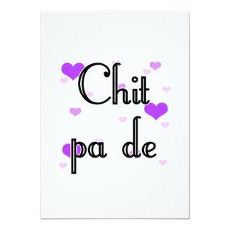 Chit pa de - Burmese - I Love You (4) Purple Heart 5x7 Paper Invitation Card
