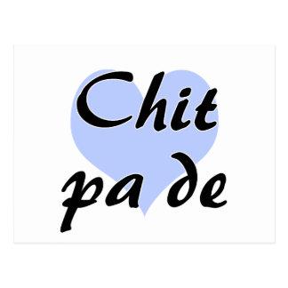 Chit pa de - Burmese - I Love You Blue Heart.png Postcard