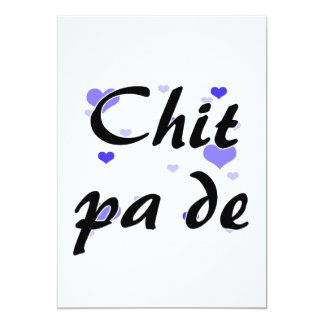 Chit pa de - Burmese - I Love You Blue Hearts.png 13 Cm X 18 Cm Invitation Card
