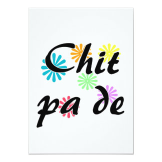 "Chit pa de - Burmese - I Love You Flowers.png 5"" X 7"" Invitation Card"