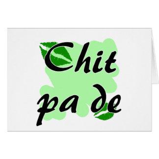 Chit pa de - Burmese - I Love You Green Kisses.png Greeting Card