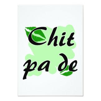 "Chit pa de - Burmese - I Love You Green Kisses.png 5"" X 7"" Invitation Card"