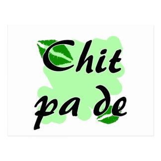 Chit pa de - Burmese - I Love You Green Kisses.png Postcard