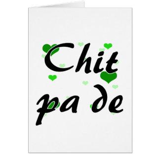 Chit pa de - Burmese - I Love You Hearts Green.png Note Card