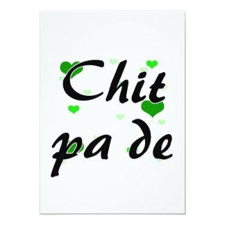 Chit pa de - Burmese - I Love You Hearts Green.png 5x7 Paper Invitation Card