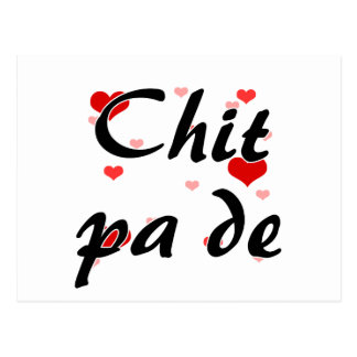 Chit pa de - Burmese - I Love You Hearts Red.png Postcard
