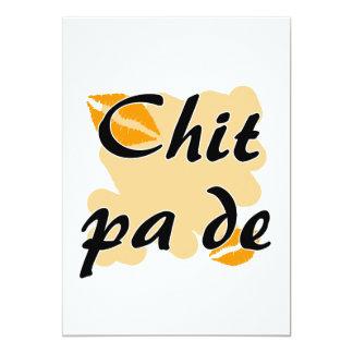 Chit pa de - Burmese - I Love You Orange Kisses.pn 13 Cm X 18 Cm Invitation Card