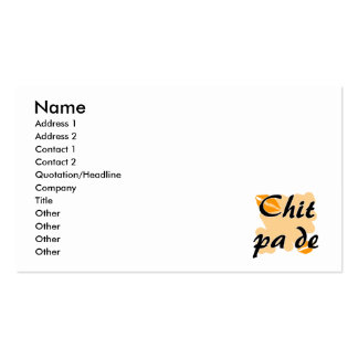 Chit pa de - Burmese - I Love You Orange Kisses.pn Pack Of Standard Business Cards