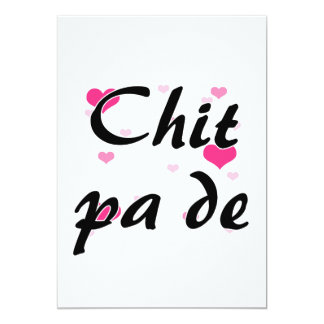 """Chit pa de - Burmese - I Love You Pink Hearts.png 5"""" X 7"""" Invitation Card"""