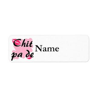 Chit pa de - Burmese - I Love You Pink Kisses.png Return Address Label