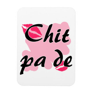 Chit pa de - Burmese - I Love You Pink Kisses.png Rectangular Photo Magnet