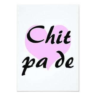 "Chit pa de - Burmese - I Love You Purple Heart.png 5"" X 7"" Invitation Card"