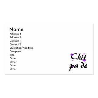 Chit pa de - Burmese - I Love You Purple Hearts.pn Pack Of Standard Business Cards