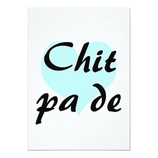 Chit pa de - Burmese - I Love You Teal Heart.png 5x7 Paper Invitation Card