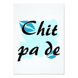 Chit pa de - Burmese - I Love You Teal Kisses.png 5x7 Paper Invitation Card