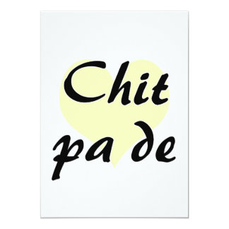Chit pa de - Burmese - I Love You Yellow Heart.png 13 Cm X 18 Cm Invitation Card