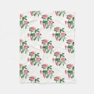 Chitzy Pink Wild Rose Fleece Blanket