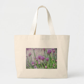 Chives in texture large tote bag