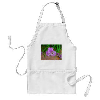 Chives with Purple Flower Blossoms Standard Apron