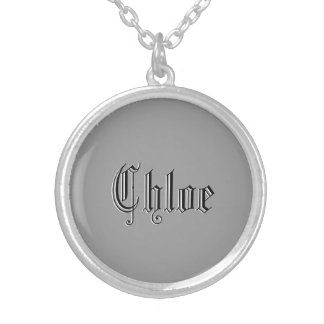 Chloe accessories round pendant necklace