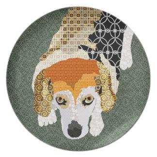 Chloe (Beagle) Green Plate