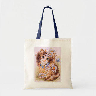 """""""Chloe Cat and Butterfly"""" Tote"""