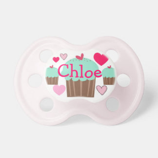 Chloe Cupcake Personalized Name Pacifier