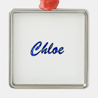 Chloe Square Metal Christmas Ornament