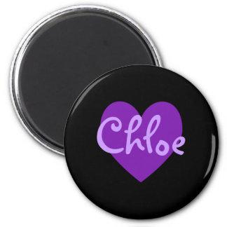 Chloe in Purple 6 Cm Round Magnet