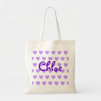 Chloe in Purple Budget Tote Bag