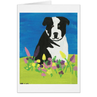 Chloe in the garden note card