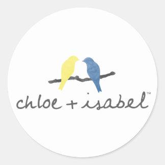 Chloe + Isabel Round Logo Sticker