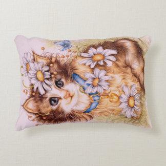 """Chloe"" Kitten pillow"