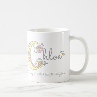 Chloe letter C name meaning monogram mug
