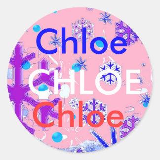 Chloe name stickers