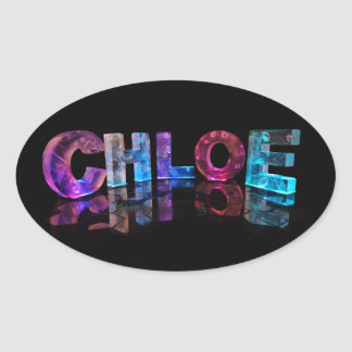 Chloe- Popular Girls Names in 3D Lights Oval Sticker